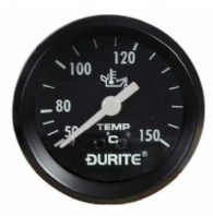 DURITE 52mm Oil Temperature gauge  , <br> 270 degree sweep)<br>12 or 24 volt